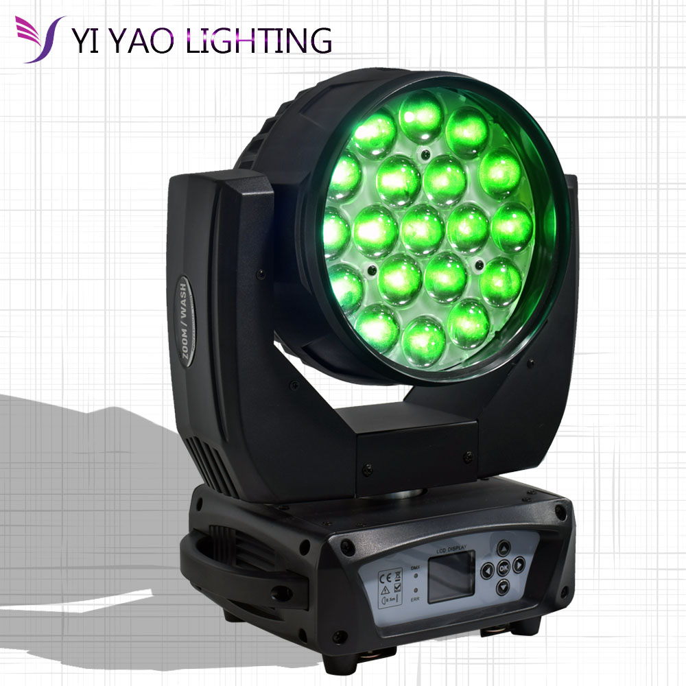 19x15W RGBW 4in1 LED Zoom Moving Head Light Wash Moving Head Light Professional DJ Nightclub Disco Party Light