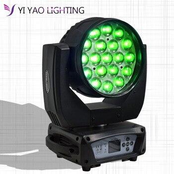 цена 19x15W RGBW 4in1 LED Zoom Moving Head Light Wash Moving Head Light Professional DJ Nightclub Disco Party Light онлайн в 2017 году