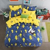 Pink 4pcs Bedding Sets for Girls Ice Cream Printed 4pcs Duvet Cover Set Pillowcases Flat Sheet King Bed Linen