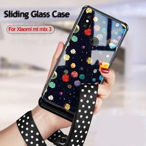 Image 2 - Slide Glas Geschilderd Gevallen Voor Xiaomi Mi Mix 3 Case Gehard Shockproof Phone Case Voor Xiaomi Mi Mix3 Mix 3 luxe Shell