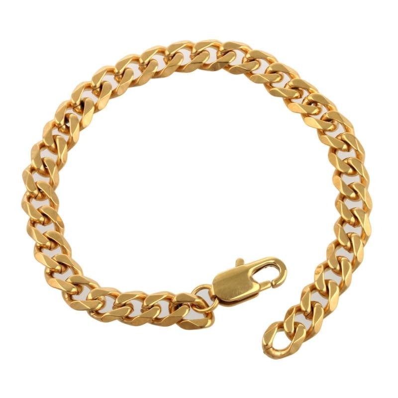 Высота ювелирные изделия 316L нержавеющая сталь позолоченное золото мужчины и мальчик браслеты и браслеты ювелирные изделия, Хорошая аксесс...