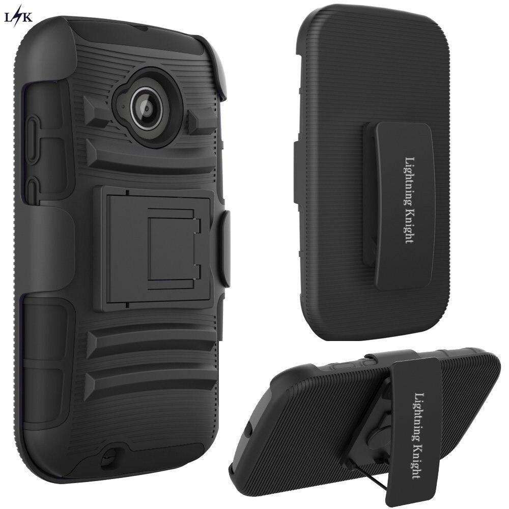 US $8 99  For Moto E (2nd Gen) Case, LK [Heavy Duty] Black Armor Holster  Defender Full Body Protective Hybrid Case with Belt Clip on Aliexpress com   