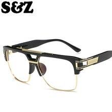 Горячая распродажа Классические Мужские солнечные очки в ретро-стиле, летняя мода, прозрачное зеркало, пластиковые металлические ножки, винтажные очки