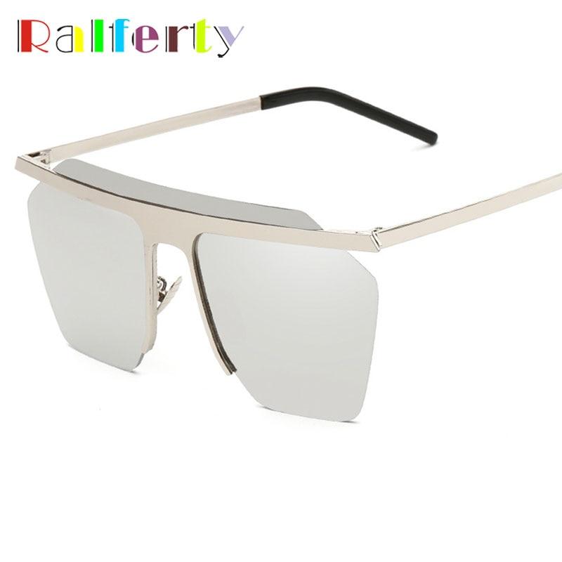 b3fbe110b2 Ralferty Unisex Gothic Sunglasses Square Rimless Goggles Vintage Goggles  Metal Frame Sun Glasses For Men Women Oculos 58008