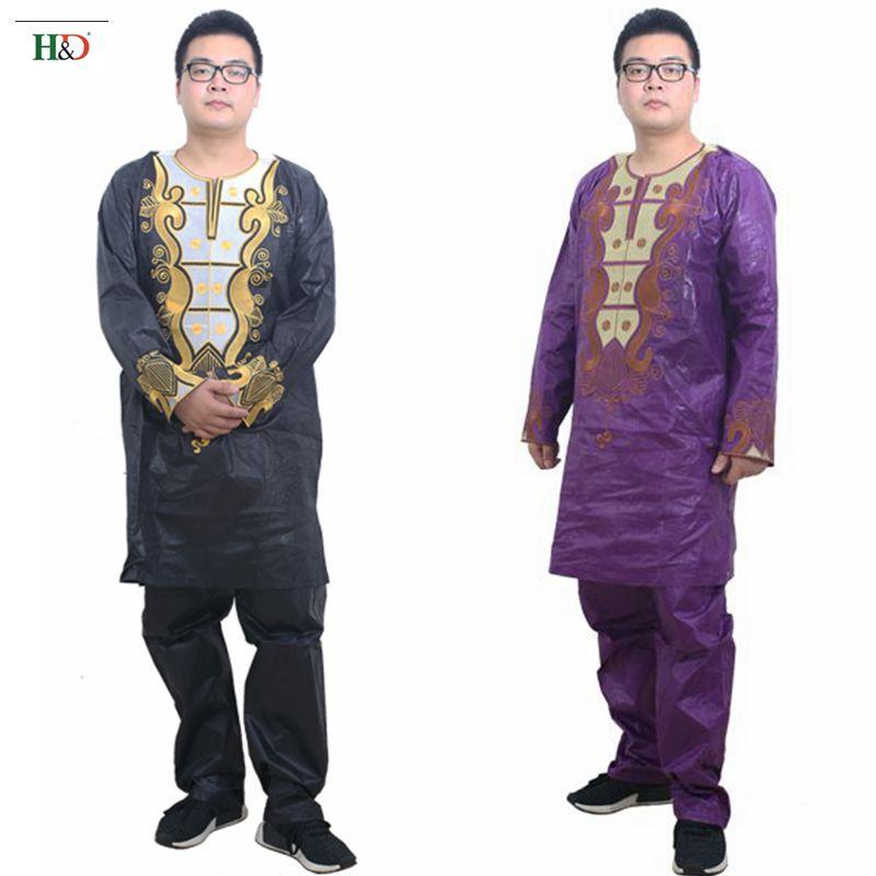Pakaian Afrika untuk pakaian lelaki 2019 pakaian tradisional lelaki - Pakaian kebangsaan - Foto 2