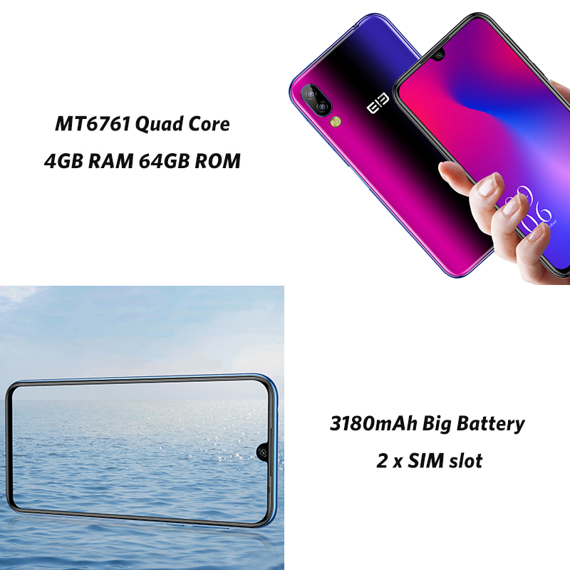 Смартфон Elephone A6 Max, 4G, Android 9,0, 4 Гб ОЗУ, 64 Гб ПЗУ, четырехъядерный процессор MT6762V, 20 МП, отпечаток пальца, 5 В/2 А, 3400 мА/ч, OTG, NFC, мобильный телефон - 5