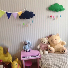 Toy Clouds Water Drop Boy Girl kids Baby Room Bed Hanging Toys Room Decoration