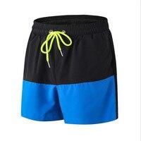 New Patchwork Stretch Training Sport Shorts Men Loose Basketball Shorts Anti Sweat Elastic Waist Marathon Fitness