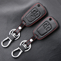 Стайлинг автомобиля кожаный чехол для ключей для Chevrolet Cruze Aveo Trax Opel Astra Corsa Meriva Zafira Antara J Mokka Insignia