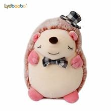 1pc 20cm Kawaii Stuffed Cartoon gentleman Hedgehog with Hat Plush Toy High Quality Room Decoration Infant Kid Cute Birthday Gift