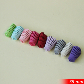 35mm Height  Suede Leather Cords Tassel Fiber Fringe Tassel For Bags Keychain  Purse  Phone Plug Charms Fashion Assorted Colors
