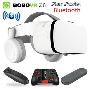 2019 Mais Novo Bobo vr Z6 VR óculos Sem Fio Bluetooth fone de ouvido VR óculos Android IOS Realidade Remota VR 3D Óculos de papelão 1
