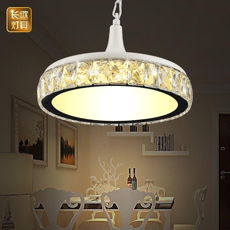 LED Dining Room Lamp Crystal Restaurant Pendant Single Head Modern Minimalist Table