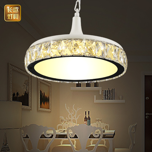 Led Dining Room Lamp Crystal Restaurant Pendant Single Head Modern Minimalist Table