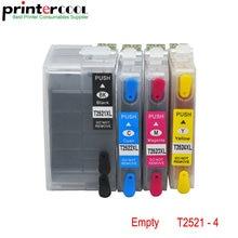 1Set For Epson T2521 T2524XL Ink Cartridge WorkForce WF-3620 WF-3640 WF-7110 WF-7610 Printer