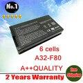 Atacado new bateria do portátil para asus a32-f80 a32-f80a f80a f80m f80h f80s x85c x85l x85s series 6 células frete grátis
