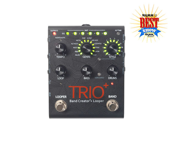 buy digitech new trio plus brand creator looper guitar effects pedal. Black Bedroom Furniture Sets. Home Design Ideas