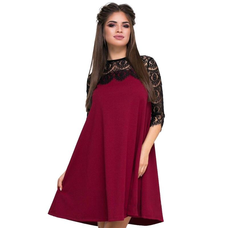 2018 Neue Heiße Mode Lässig Elegante Alle-zweck Kleid Sexy Spitze Kleid Sommer Lose Beiläufige Mode Frauen Mama Kleidung Sonne Kleid