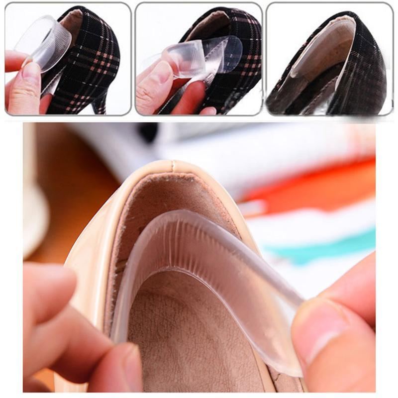 1 Pair Heel Pad Stick Transparent Jelly Crystal High Heel Sticks Women Feet Care Product Silicone Gel Shoe Insoles Z4