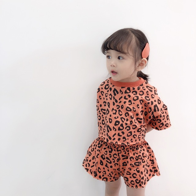 2019 Four-color Korean Version Two-piece For Girls Girls Clothing Sets Toddler Girl Clothing Baby Girl Summer Clothes 1