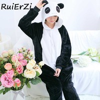 Women Pajamas Sets Bats Flannel Panda Cartoon Cute Animal Women Men Pajamas Winter Nightie Stitch Comfortable