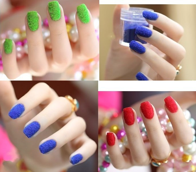 Aliexpress New Fashion Color 3d Nail Art Flocking Powder Nails Velvet Decorations Acrylic Polish Tips Manicure From