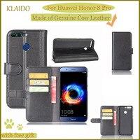 KLAIDO Genuine Cow Leather Mobile Phone Case For Huawei Honor 8 Pro Phone Case For Huawei