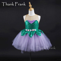 Girls Rosette Ballet Dance Dress Women Fresh Trend Flexible Danse Classique Children Ballet Costume Adult Sequin Stage Dancewear