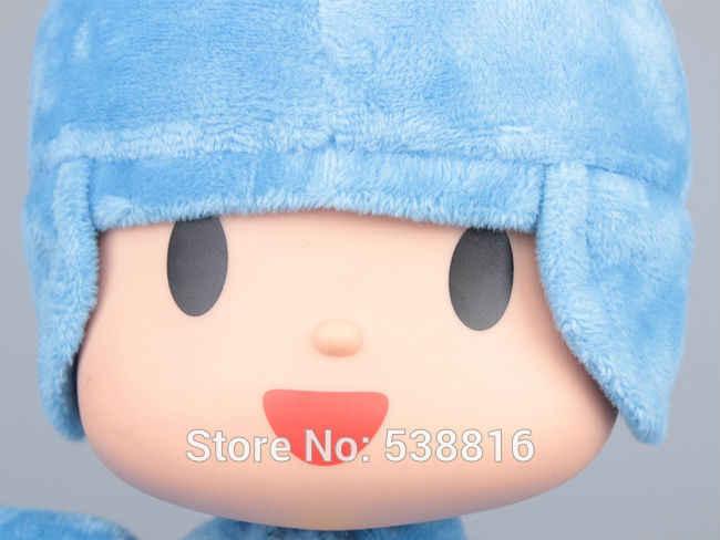 Varejo 1 Peça 26 CM Pocoyo Suave Plush Stuffed Toy Boneca Figura de Alta Qualidade