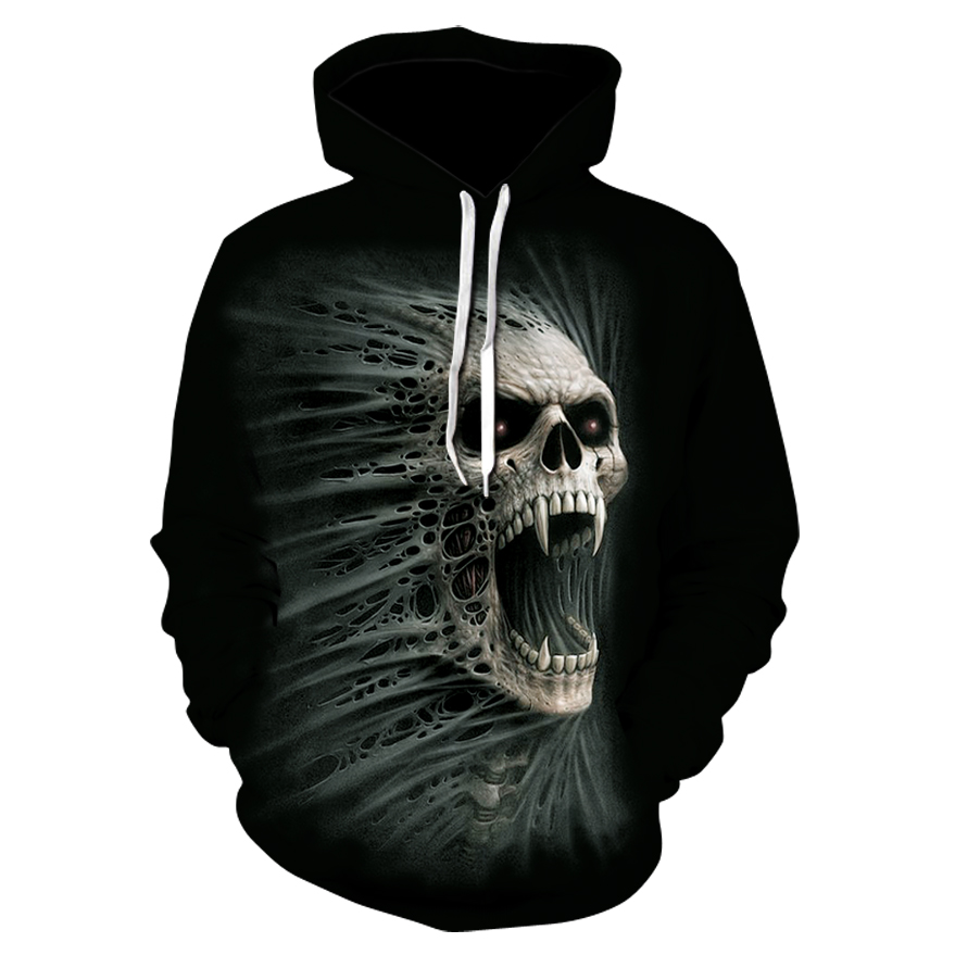 Image 3 - 2019 New Hot Fashion 3D HD Printing Skull Autumn Hoodies  Series Men / Women Autumn And Winter Sweatshirt Hip hop Hoodies S 6XL-in Hoodies & Sweatshirts from Men's Clothing