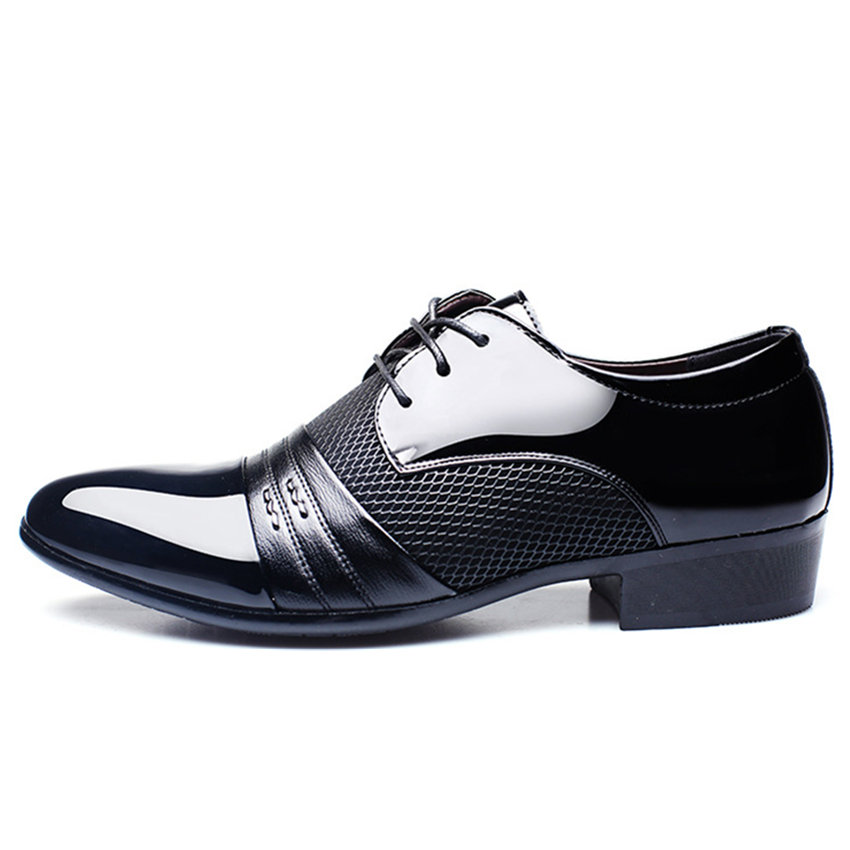 Men Leather Shoes Business Flat Black Brown Breathable Summer Autumn Dress Shoes Plus Size 38-48 Zapatos De Hombre