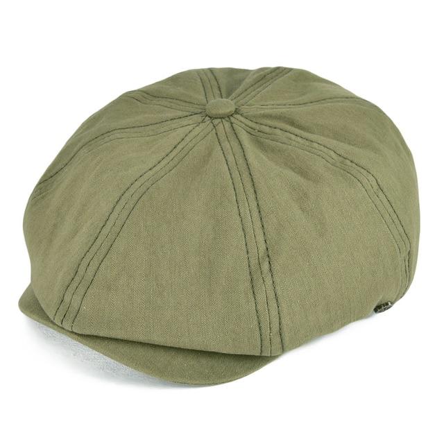 VOBOOM Summer White Cotton Newsboy Cap Men Women Eight Panel Hat Baker Boy  Caps Retro Apple Hats 134 f3b1ef114ba