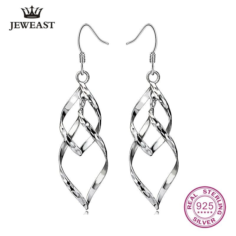 925 Sterling Silver Drop Earrings 2020 Fashion Design Hot For Women Elegant Lady Fine Jewelry Hook Earring Trendy Party Gift
