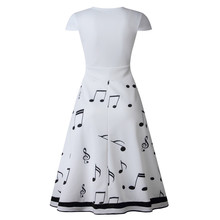 Musical Note Print Party Long Dress