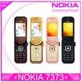7373 Оригинальный Разблокирована Nokia 7373 мобильный телефон Bluetooth Камера Vedio FM Классический Дешевый Сотовый телефон отремонтированы 1 год гарантии