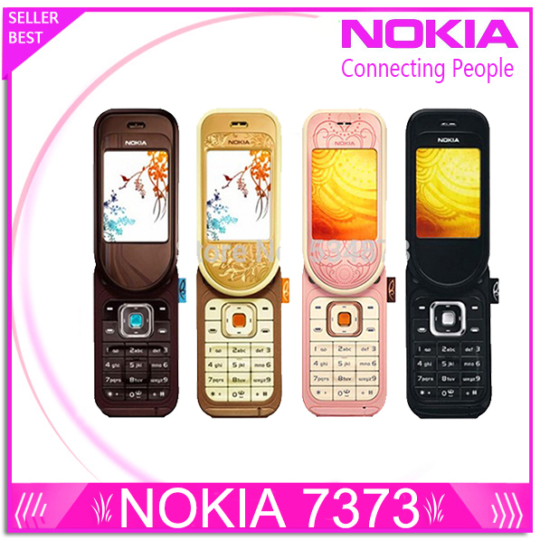 7373 Original Unlocked Nokia 7373 mobile phone Bluetooth Camera Vedio FM Classic Cheap Cell phone refurbished