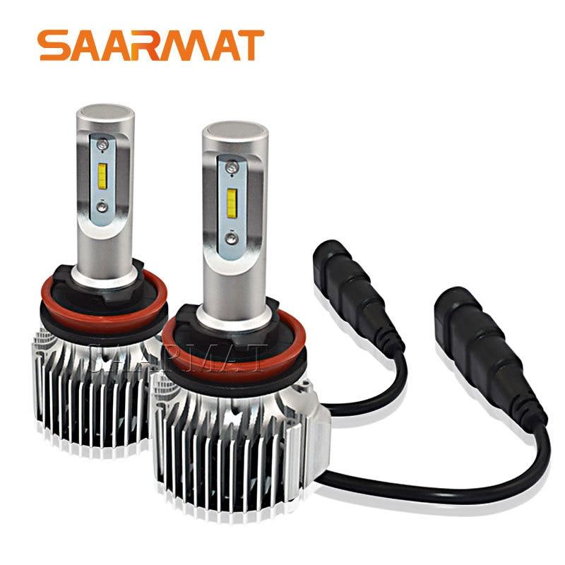 1set H8 H9 H11 H16 JP LED Headlight Kit For Auto Car Styling 10800LM W Flip