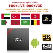 Francese Full HD IPTV X96W 1 mese Gratuito di IP TV Turchia Arabo Marocco Abbonamento IPTV TV Box 4 K Belgio IPTV Francia Arabo IP TV