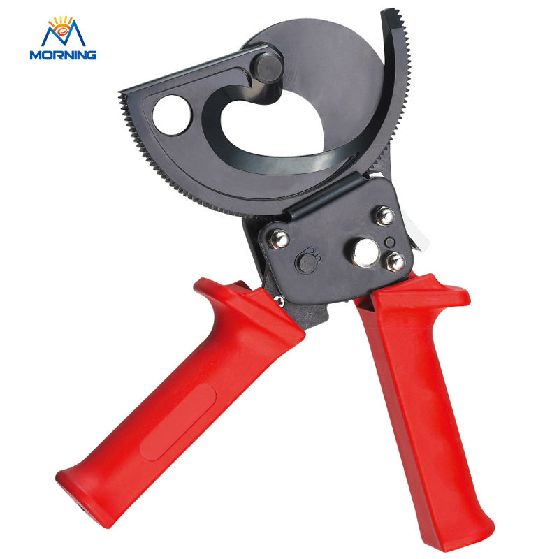 HS-300B Ratcheting ratchet cable cutter  for cutting max 300mm2 Cu/Al cables ratchet cable cutter hs 300b cable cutting tool for copper aluminum cables 300mm2 max