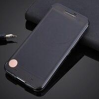 For HTC 10 One M10 Ultra Thin Ice TPU Smart View Auto Sleep Wake Flip Case