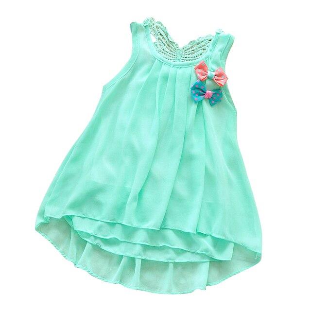 ca62ad972 Gasa vestido infantil ropa de bebé niña Vestidos de partido ropa de recién  nacido del niño