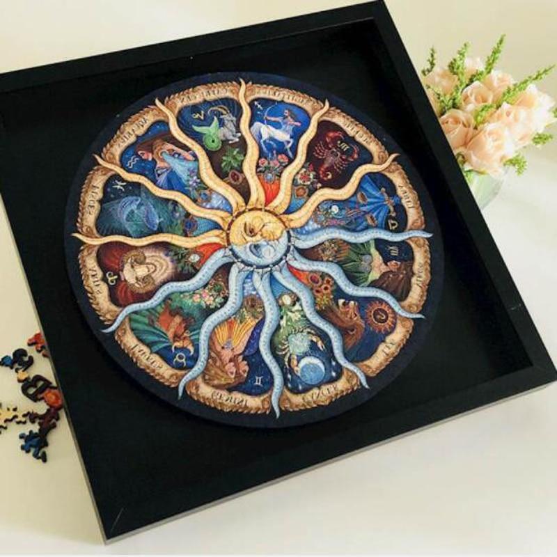 Landscape Wooden puzzle 500 Pieces Puzzles Zodiac Horoscope Puzzle Collection DIY Constellation Jigsaw home decoration