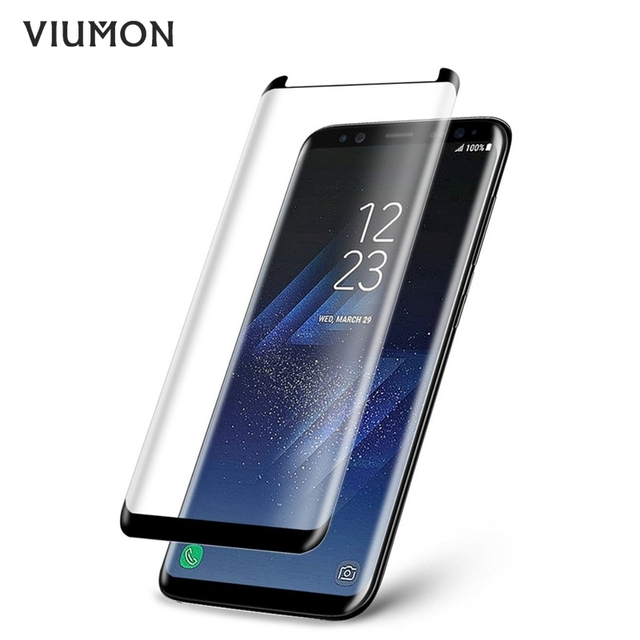 new concept f09e1 63a33 US $1.69 55% OFF 3D Curved Case Friendly Tempered Glass For Samsung Galaxy  S8 Protective Film For Samsung S8 Plus Screen Protector Not Full Cover-in  ...