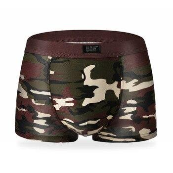 youlehe Mens Underwear Plus Size Men s Boxer Shorts Fashion Breathable Modal Boxer Tide men Soldier