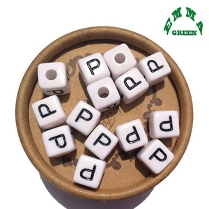 Image 3 - Beads for Jewelry Making Letter Beads 10mm 550pcs A Z Separate Alphabet Beads White Beads Square Beads for Kids Acrylic Beads