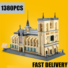 New Streetview Creator Architecture NOTRE DAME CATHEDRAL de Paris fit city Building Blocks Bricks Toys For Children gift