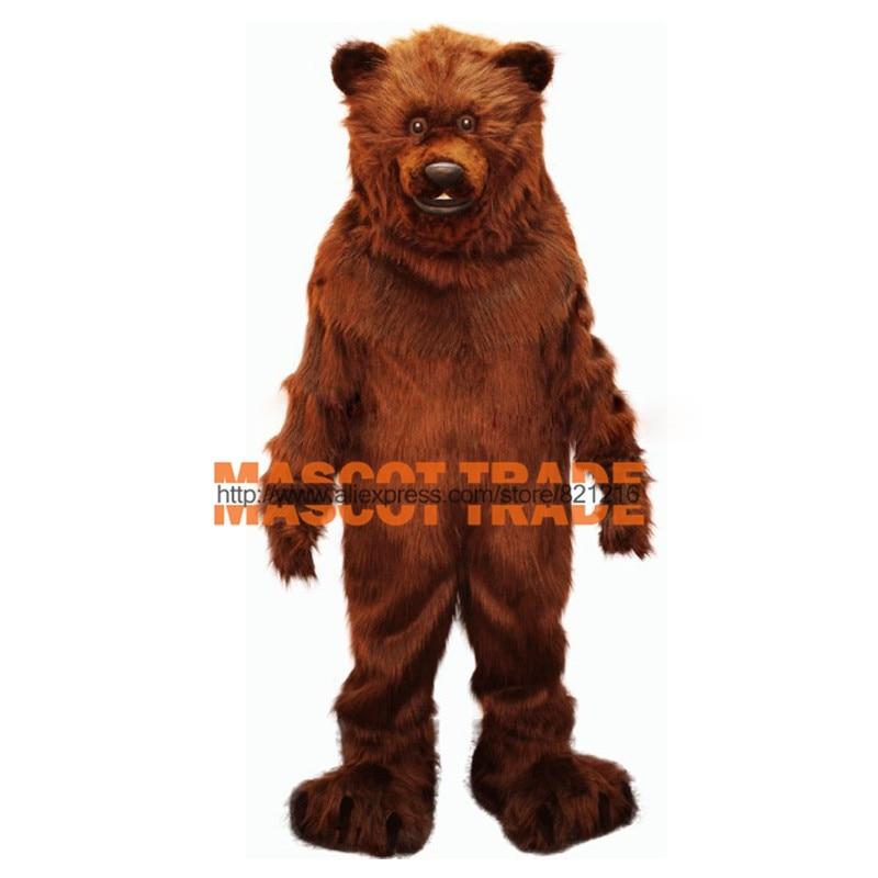 Amigável Grizzly Bear Qualidade Leve Profissional Traje Da Mascote Tamanho Adulto