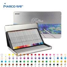 Марко raffiné тонкой Книги по искусству 72 Цвета высококачественных нетоксичных Цвет карандаш Ляпис de Cor Профессиональный Цветные карандаши школьные принадлежности