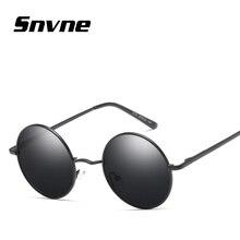 Snvne luz polarizada gafas de Sol gafas de Metal marco redondo retro gafas de sol para hombres mujeres diseño de Marca oculos gafas de sol hombre KK154