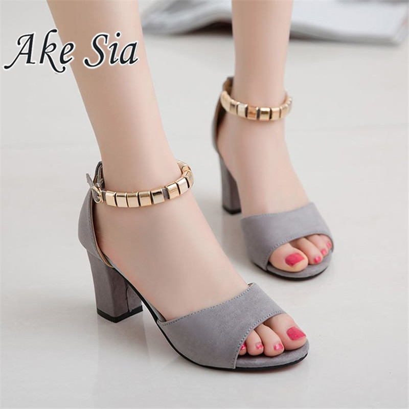 HTB1.ngcJH2pK1RjSZFsq6yNlXXaY 2019 Sandalias femeninas high heels Autumn Flock pointed sandals sexy high heels female summer shoes Female sandals mujer s040